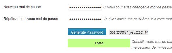 mot de passe genere